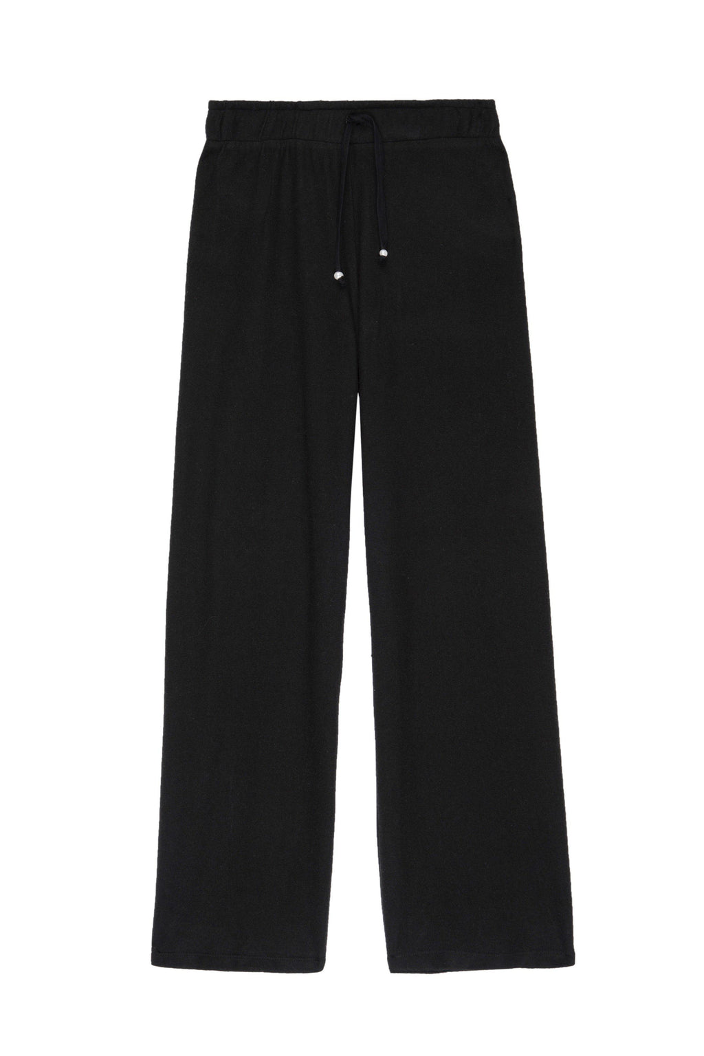 DONNI. SWEATER CROPPED FLARE SWEATPANT IN BLACK