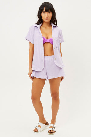 FRANKIE'S BIKINIS COCO TOP IN LILAC