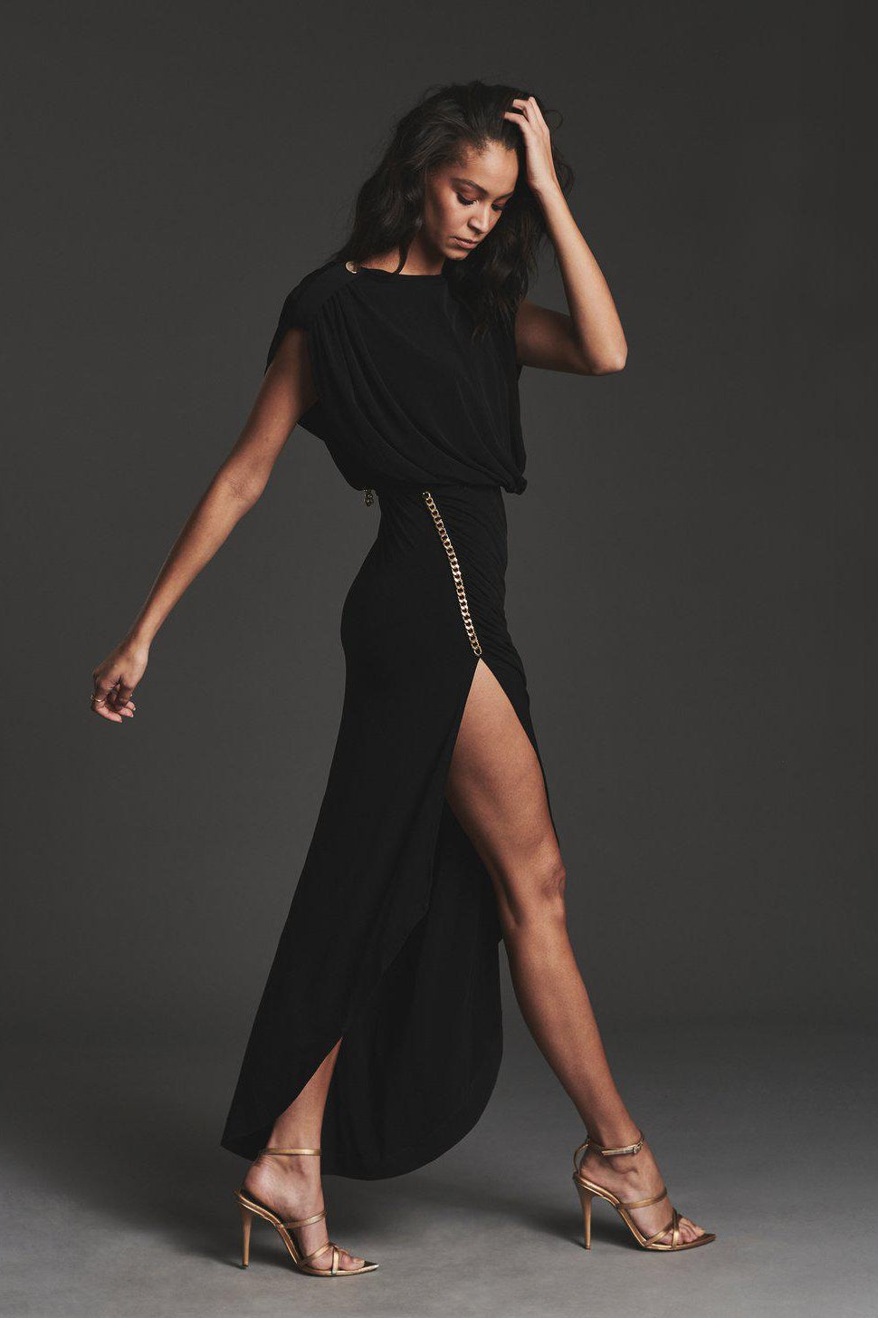 RETROFETE FLORENCE DRESS IN BLACK