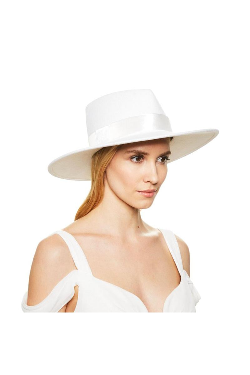 EUGENIA KIM WINTER WHITE HARLOWE HAT