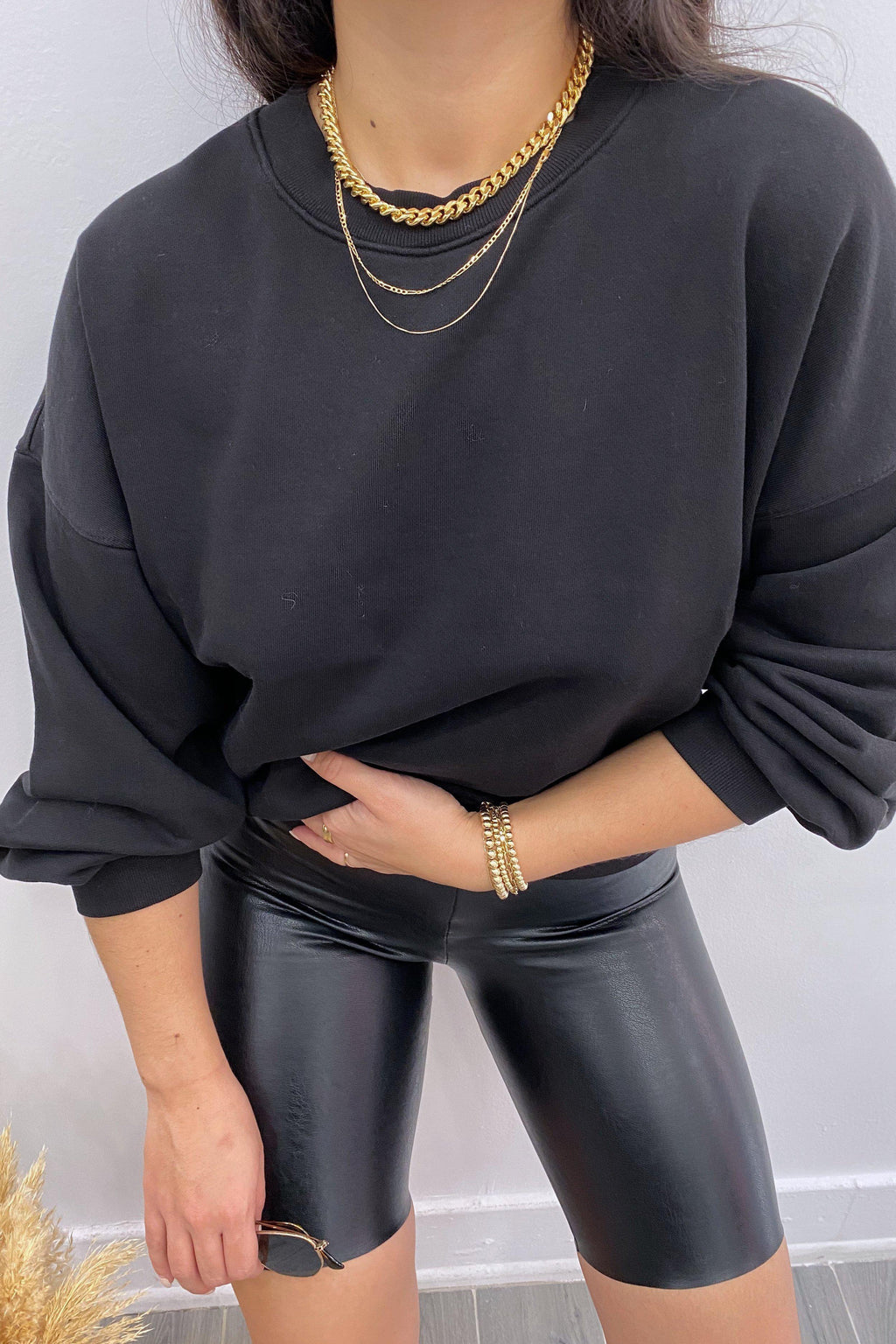 AGOLDE BALLOON SLEEVE SWEATSHIRT IN BELTWAY