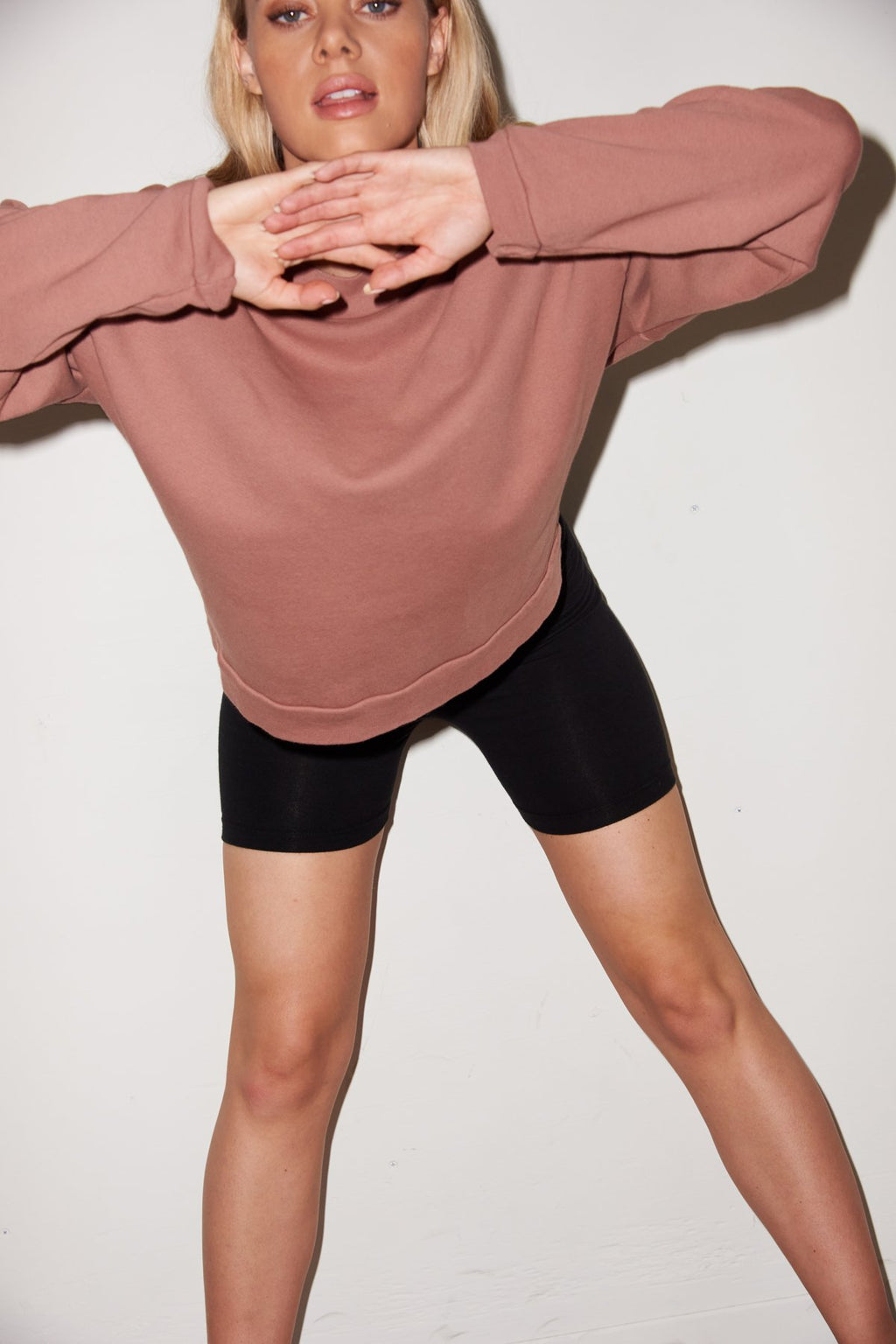LNA CROPPED SWEATSHIRT IN CLOVE