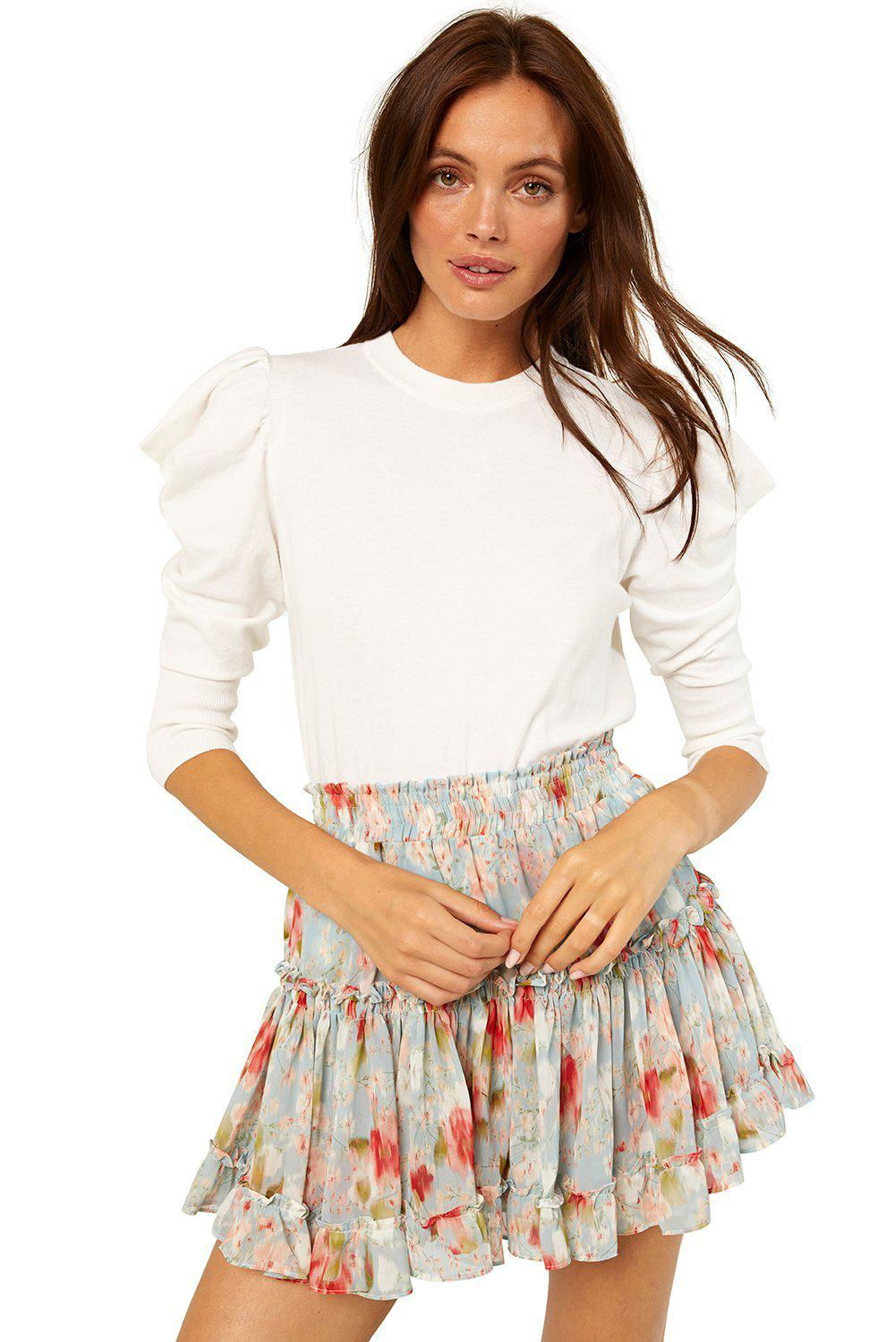 MISA MARION MINI SKIRT IN DAYDREAM FLORAL