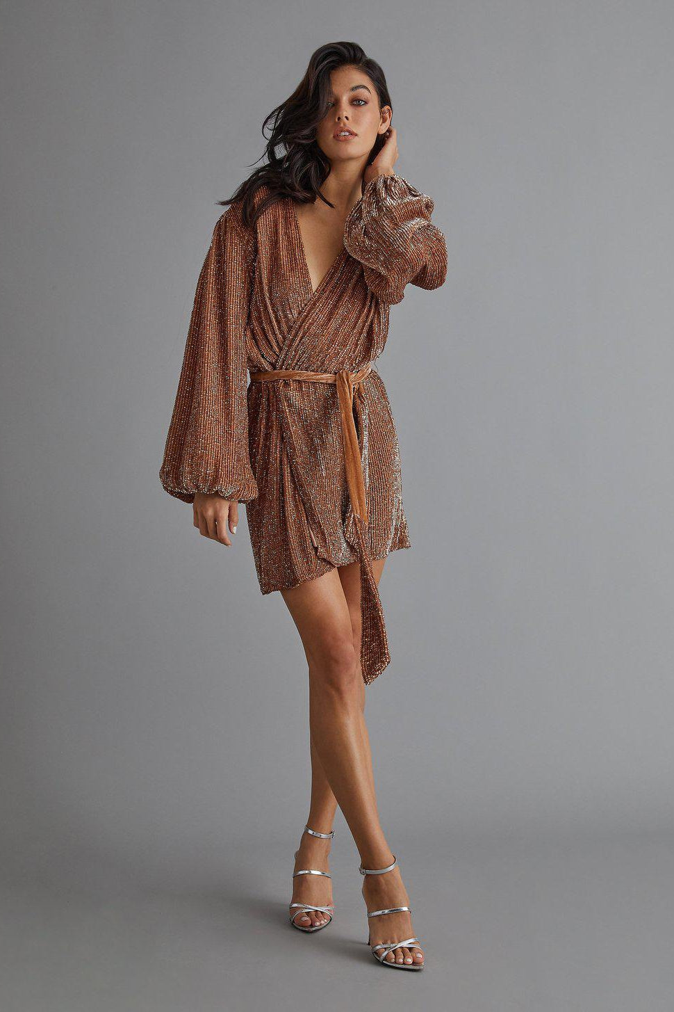 RETROFETE GABRIELLE ROBE IN BRONZE