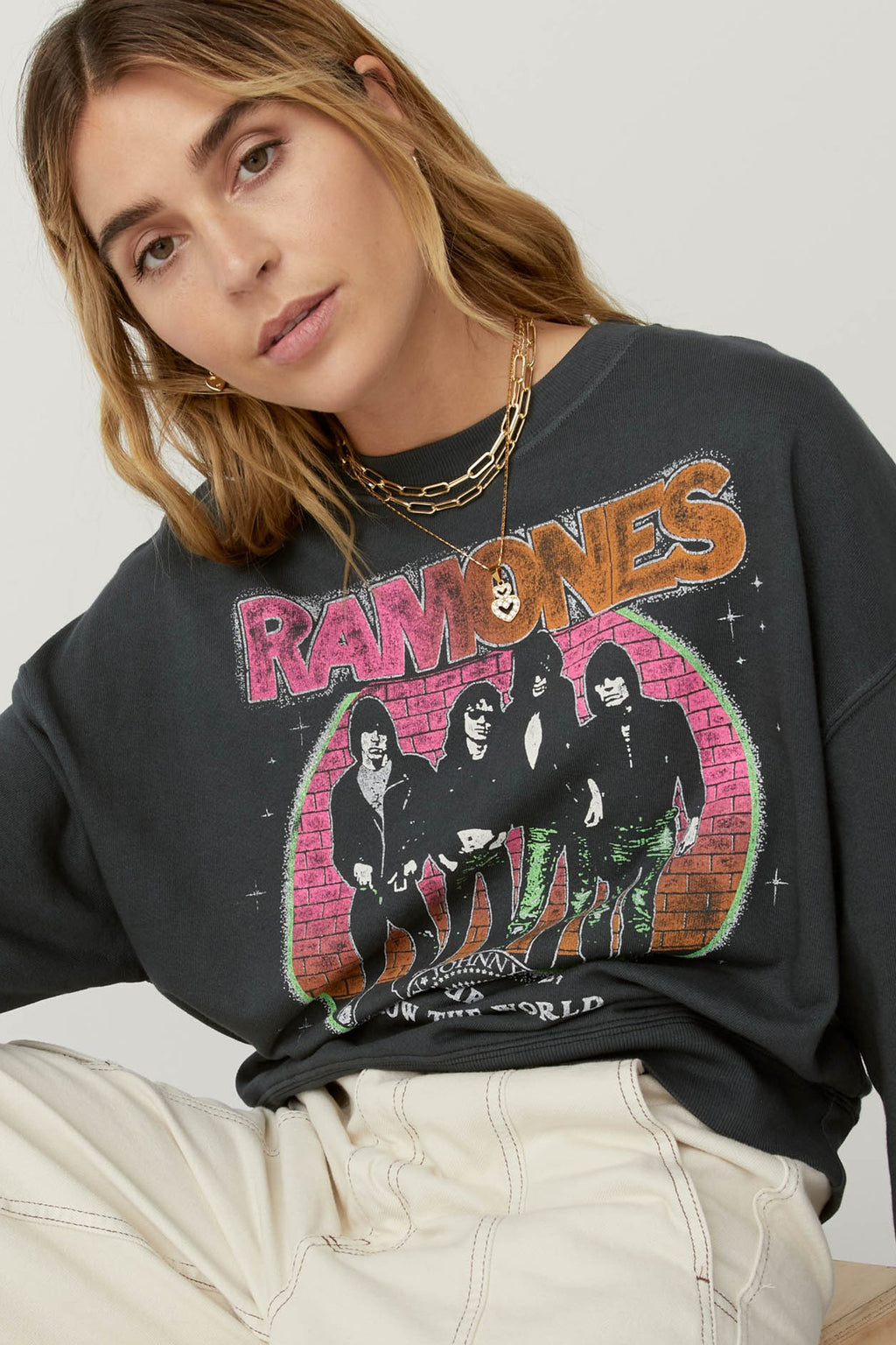 DAYDREAMER RAMONES TODAY YOUR LOVE OVERSIZED CREW