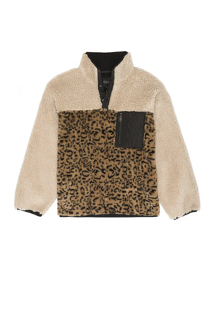 RAILS SAGA JACKET IN CREAM LEOPARD MIX