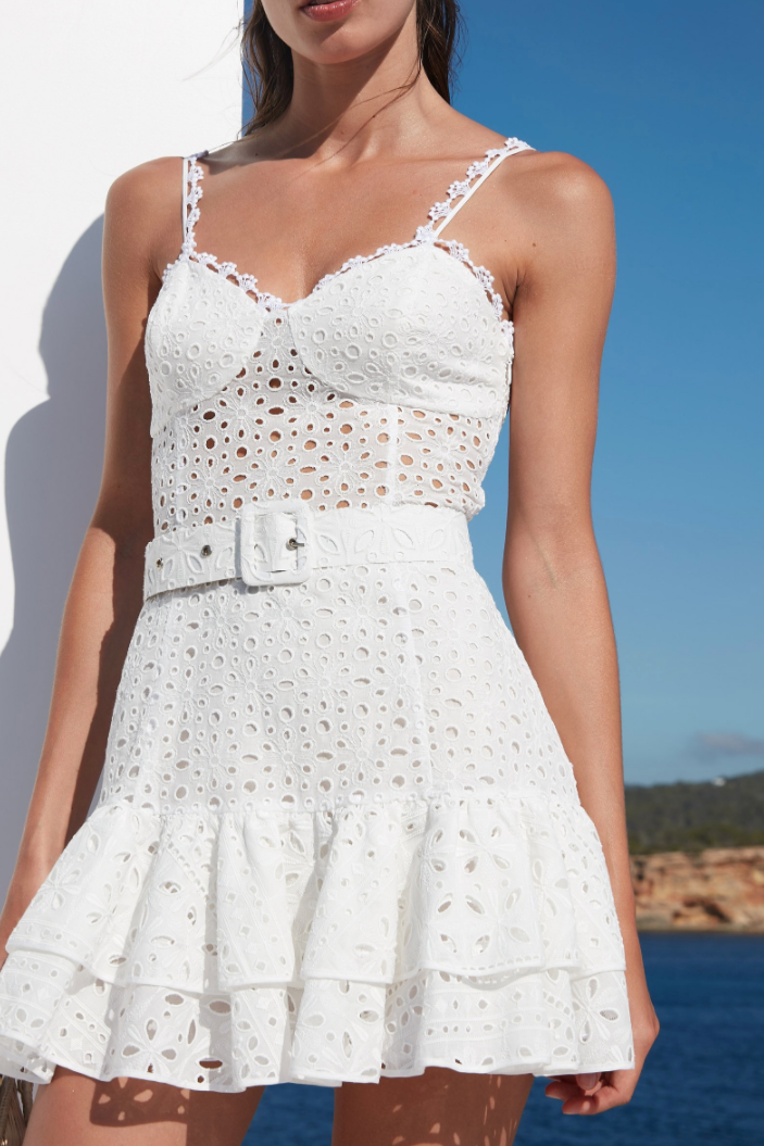 CHARO RUIZ IBIZA MARIANNE DRESS IN WHITE
