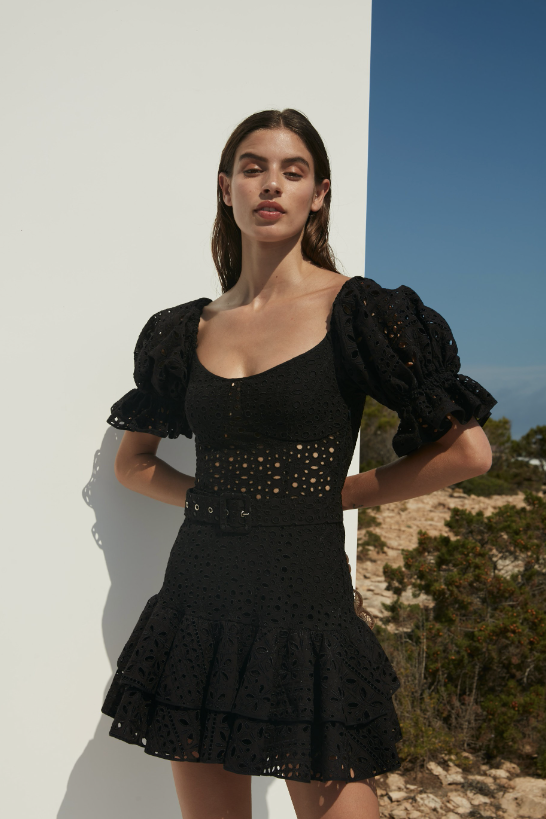 CHARO RUIZ IBIZA JEAN DRESS IN BLACK
