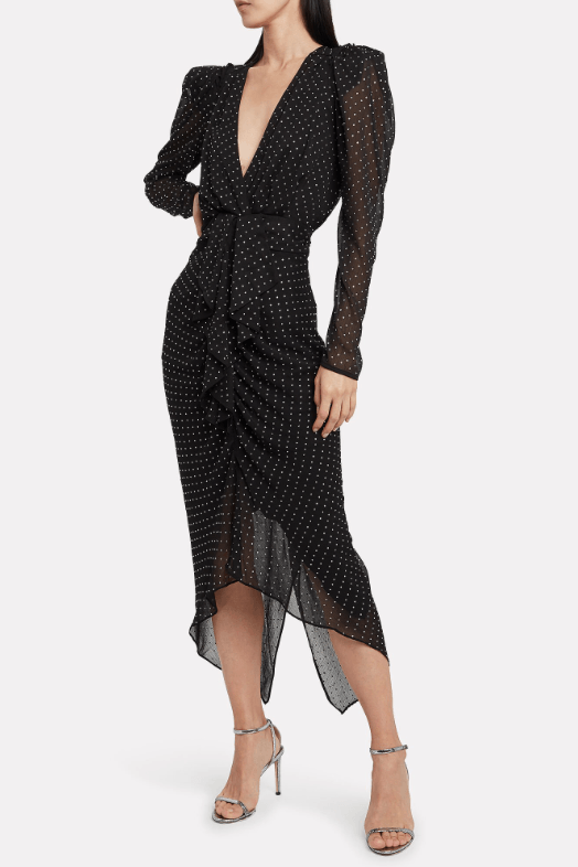 RONNY KOBO ASTRID DRESS IN BLACK
