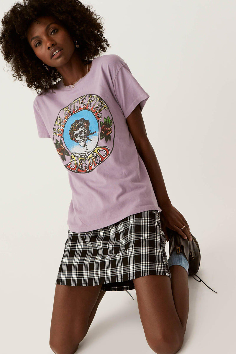 DAYDREAMER GRATEFUL DEAD RUN FOR THE ROSES TOUR TEE IN DUSTY ROSE