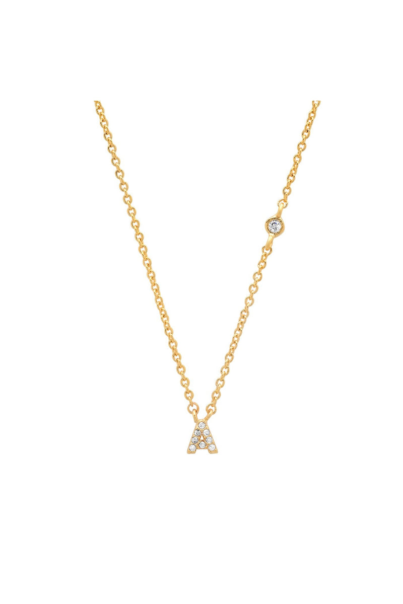 TAI PAVE MINI INITIAL NECKLACE