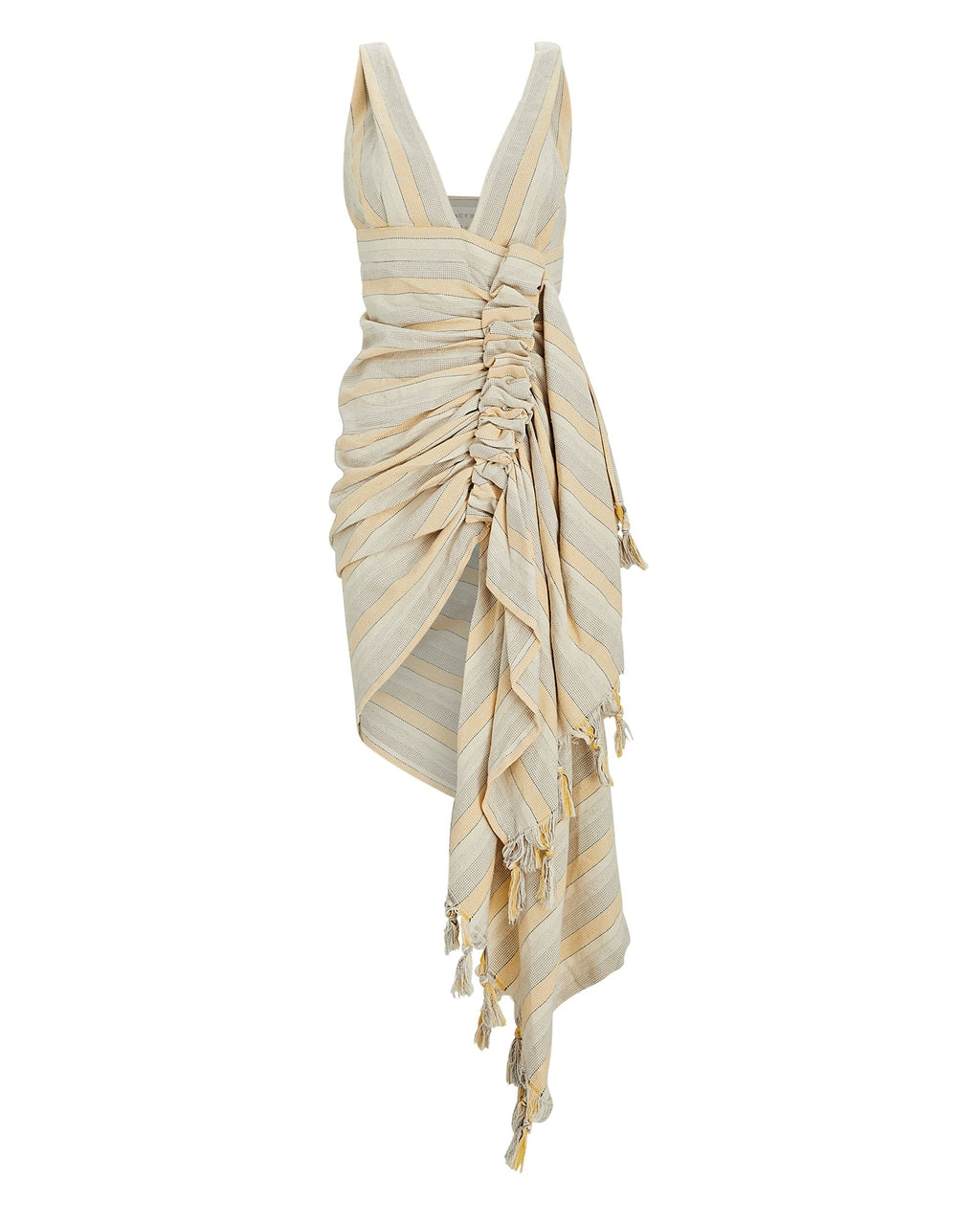 JUST BEE QUEEN TULUM DRESS IN YELLOW/OAT
