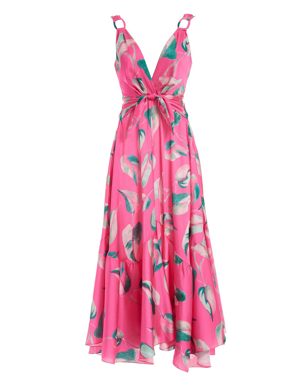 PATBO PANDOLA PLUNGE MAXI DRESS IN HOT PINK