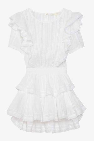 LOVESHACKFANCY NATASHA DRESS IN WHITE