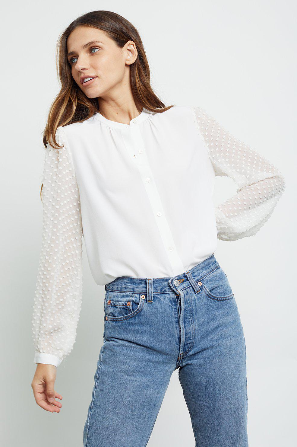 RAILS CAMILLA BLOUSE IN IVORY