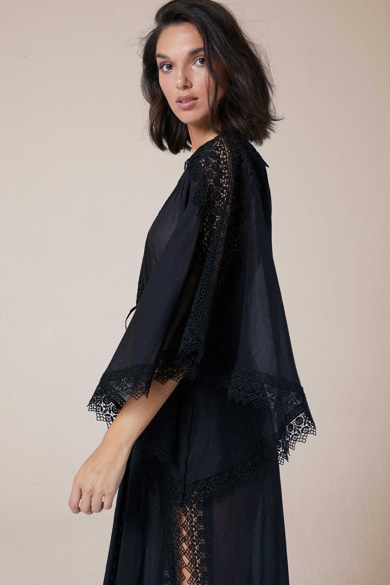 CHARO RUIZ IBIZA ANGELA KAFTAN IN BLACK