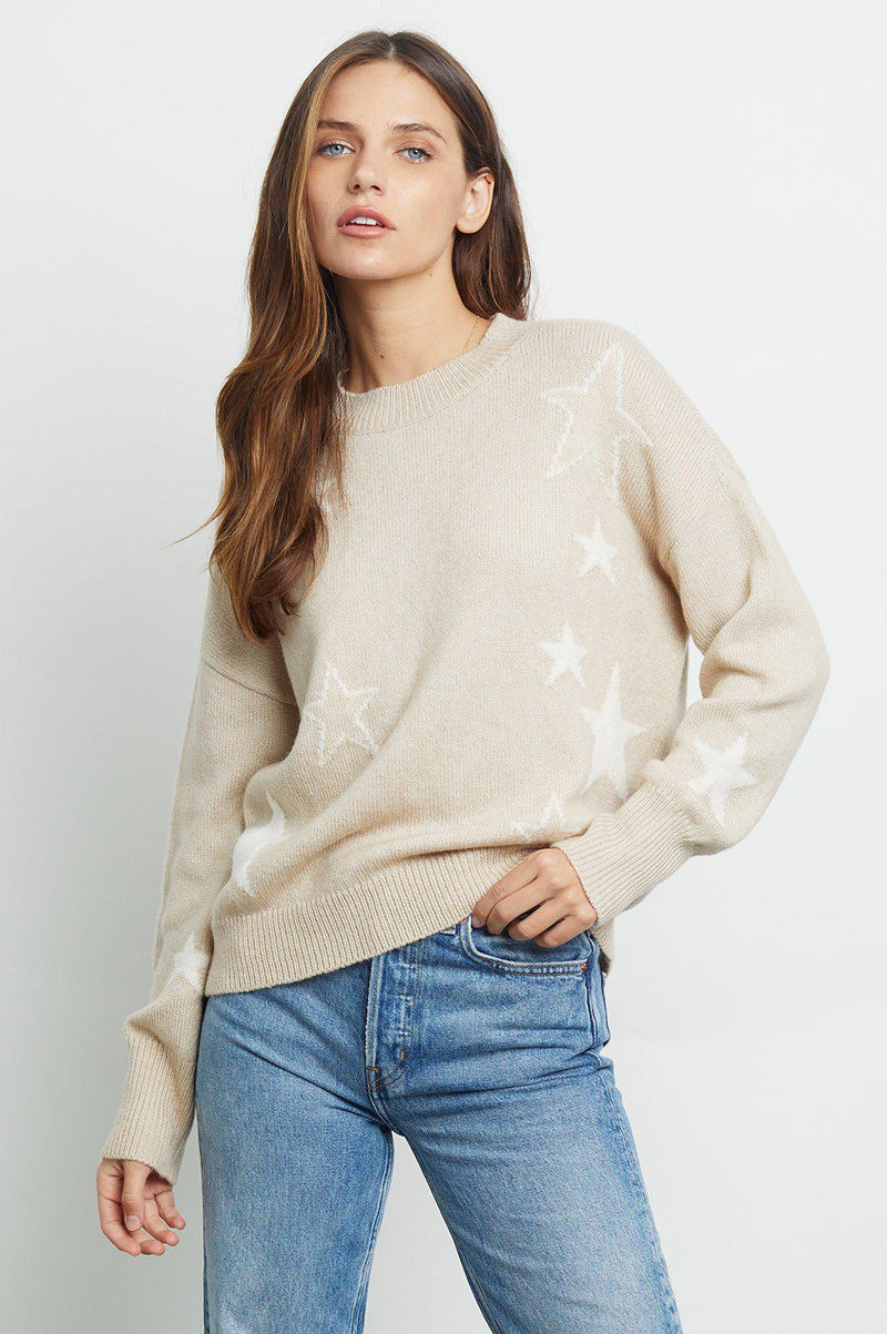 RAILS KANA SWEATER IN CAMEL STARS
