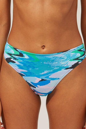 SOLID & STRIPED BRODY BIKINI BOTTOM IN DISTORTIA