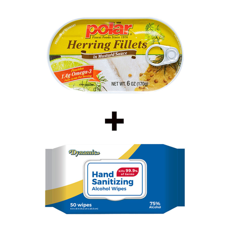Herring Fillet in Mustard 6oz (Pack of 14) + Sesame Oil 5oz(Pack of 2) Holiday Bundle - MWPolar