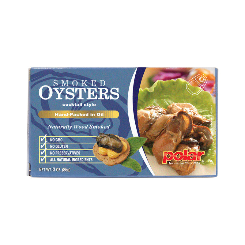 Cocktail Smoked Oysters 3.53 oz (Pack of 18)
