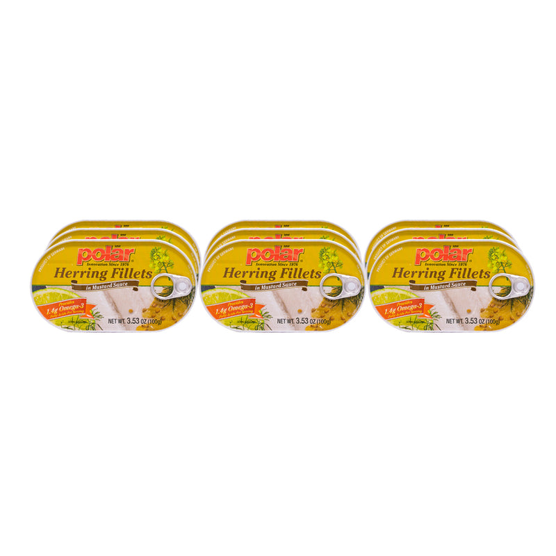 Polar Herring in Mustard Sauce 3.53oz (Pack of 9 or 18) - MWPolar
