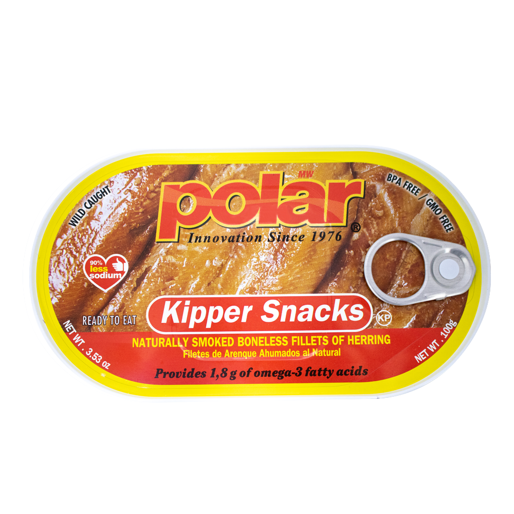 Polar Kipper Herring Snack 3.53oz (Pack of 9 or 18) - MWPolar