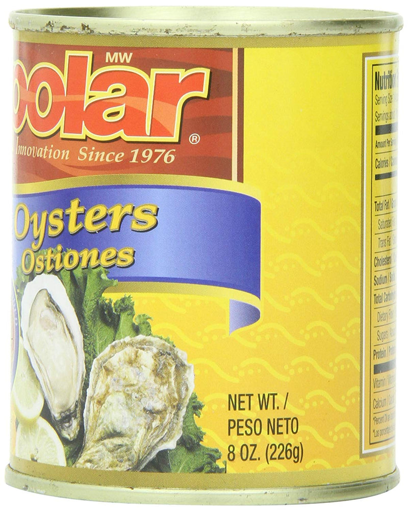 Polar Boiled Oysters 8 oz (Pack of 12) - MWPolar