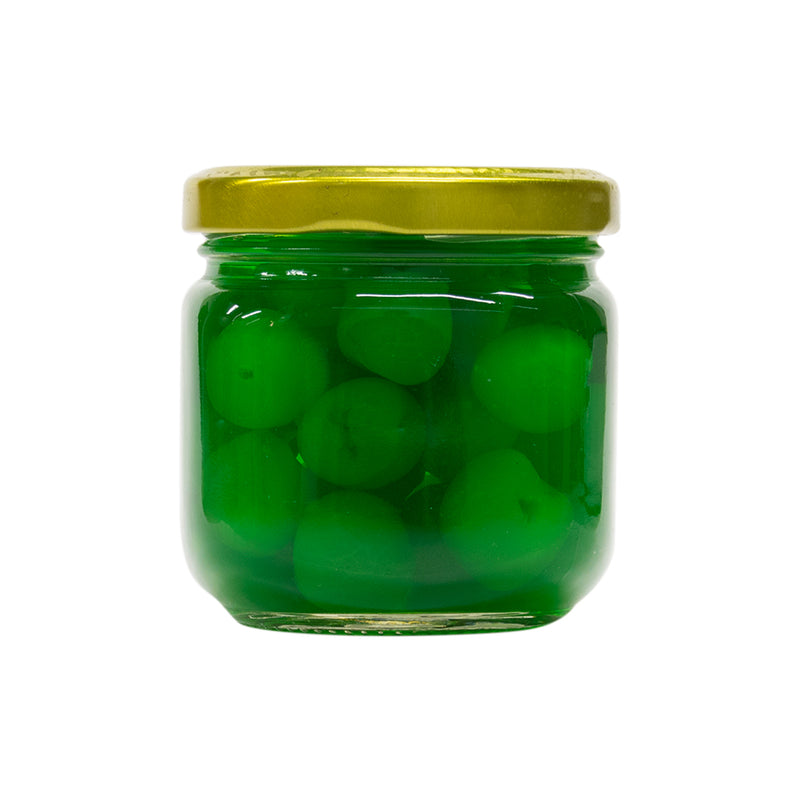 Green Maraschino Cherries Without Stems (Pack of 12) - MWPolar