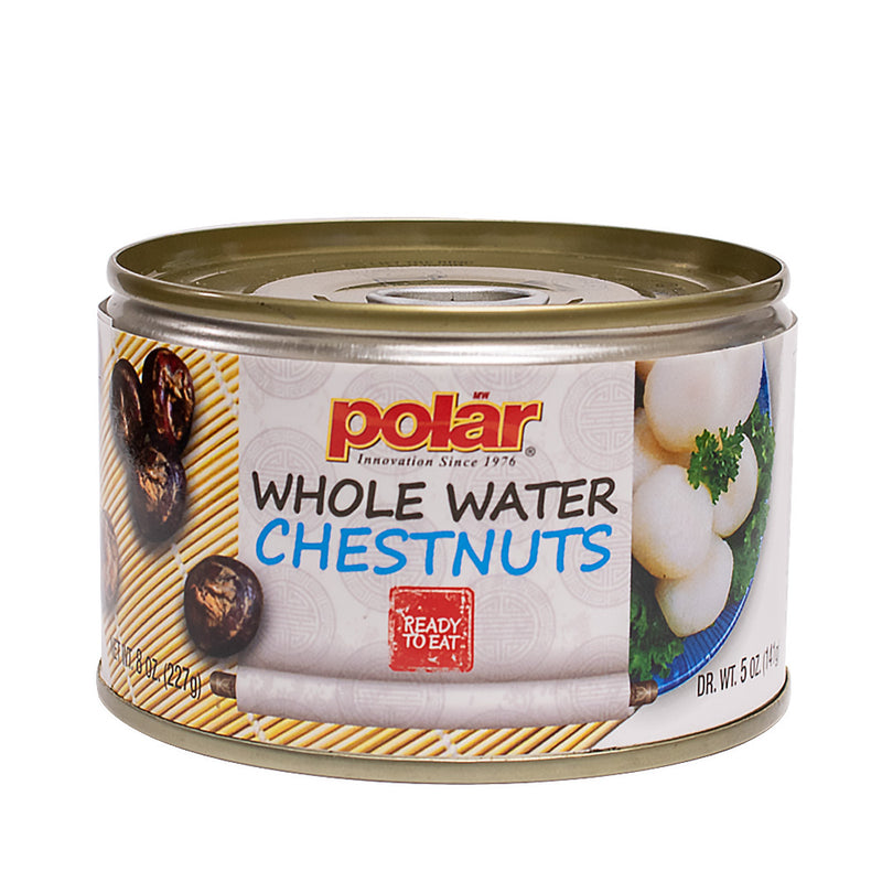 Peeled Whole Water Chestnuts 8 oz (Pack of 6 or 12)