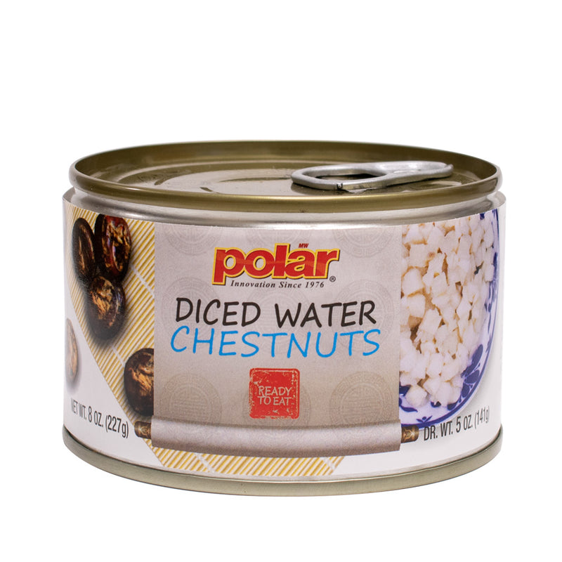 Peeled Diced Water Chestnuts 8 oz (Pack of 6 or 12) - MWPolar