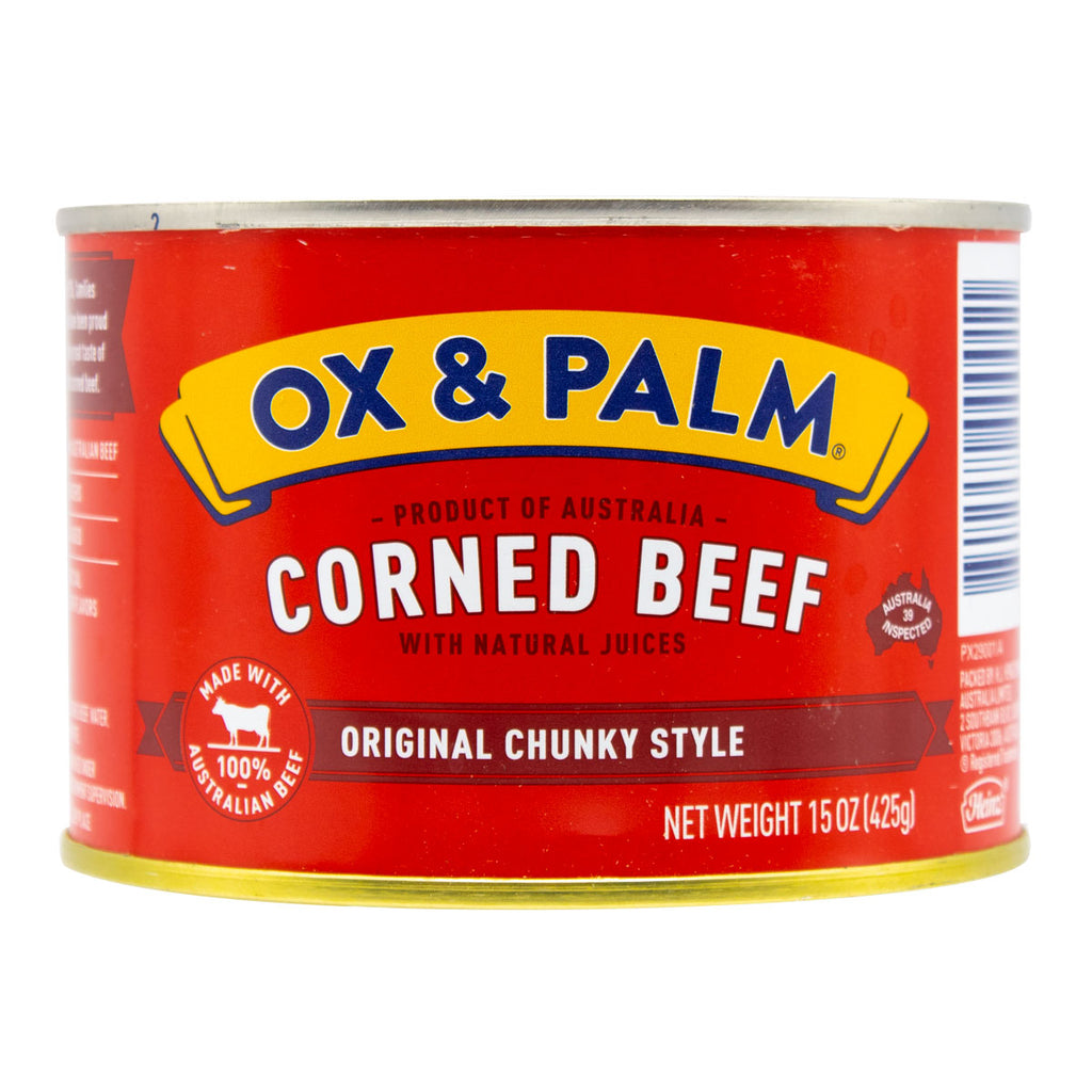Ox & Palm Corned Beef Original Chunky Style 15oz (Pack of 6, 12 or 24) - MWPolar