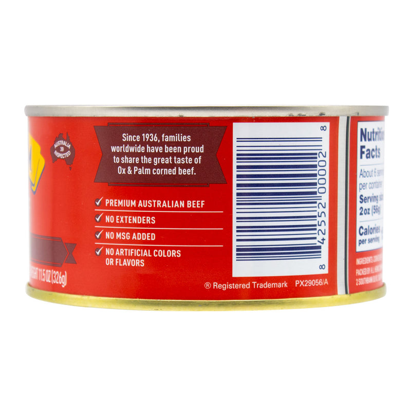 Ox & Palm Corned Beef Original Chunky Style 11.5oz (Pack of 6, 12 or 24) - MWPolar