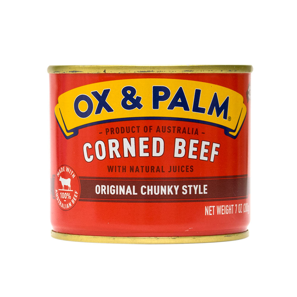 Ox & Palm Corned Beef Original Chunky Style 7oz (Pack of 6, 12 or 24) - MWPolar