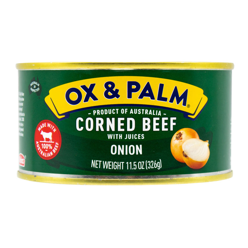 Ox & Palm Corned Beef Onion Flavor 11.5oz (Pack of 6, 12 or 24) - MWPolar