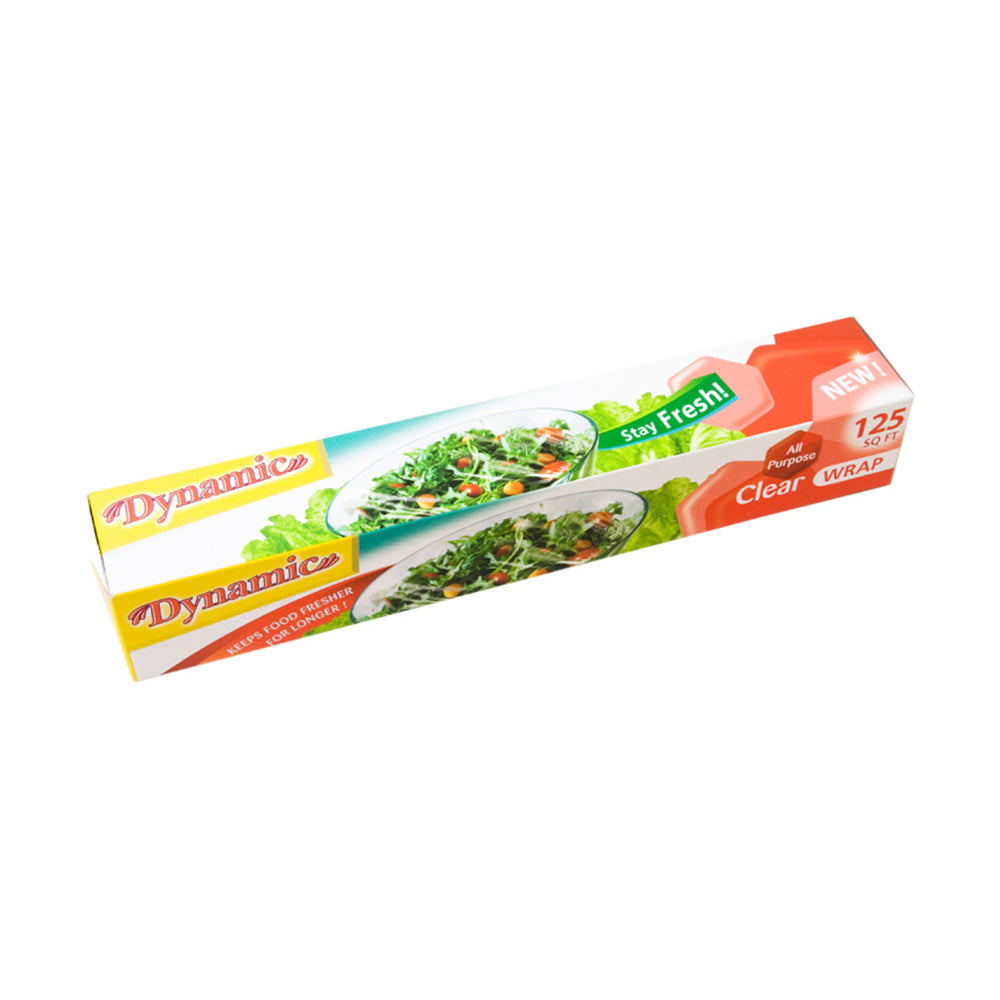 Plastic Food Wrap - 125 ft - (Pack of 4, 6, or 24)