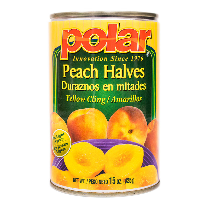 Peach Halves in Light Syrup 15 oz (Pack of 6 or 12) - MWPolar