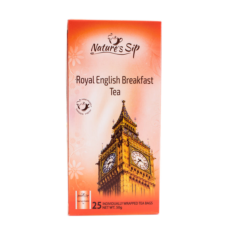 Nature's Sip Teas - Royal English Breakfast 25 ct (Pack of 12 or 6) - MWPolar