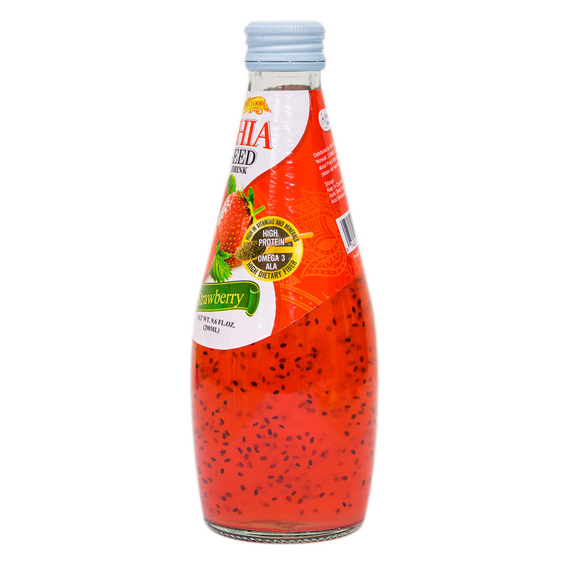 Chia Seed Juice - Strawberry 9.6 oz (Pack of 24) - MWPolar