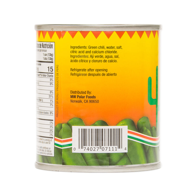 Roasted Green Chili Whole 8 oz (Pack of 12)