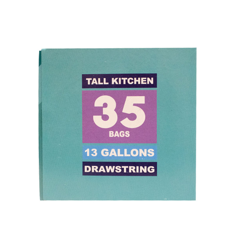 13 Gal Drawstring Tall Kitchen Bag Lavender Scent (Pack of 2 or 8) - MWPolar