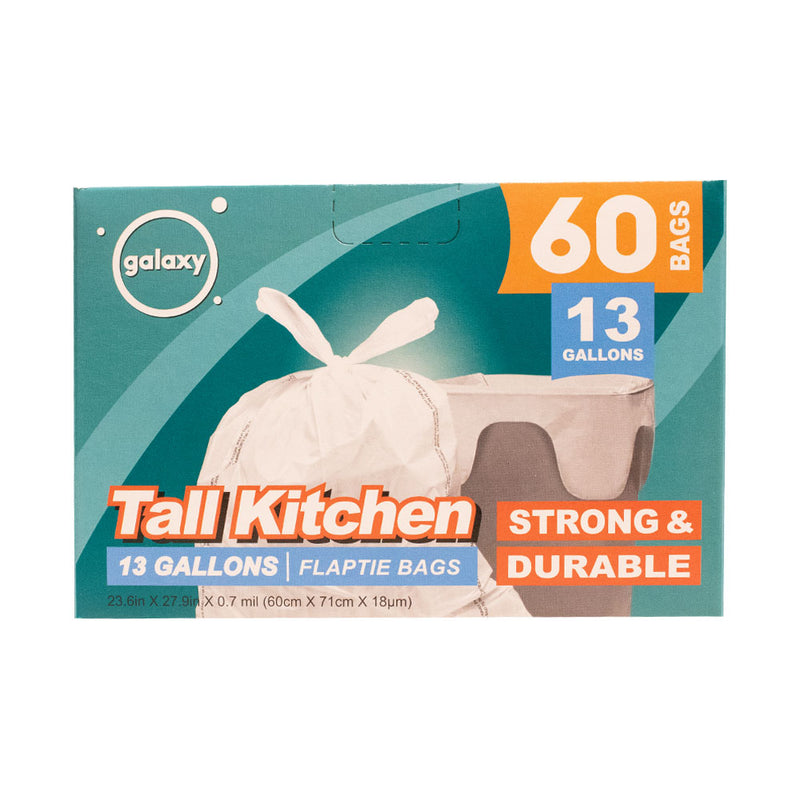 13 Gal Flap Tie Tall Kitchen Bag (Pack of 2 or 8) - MWPolar