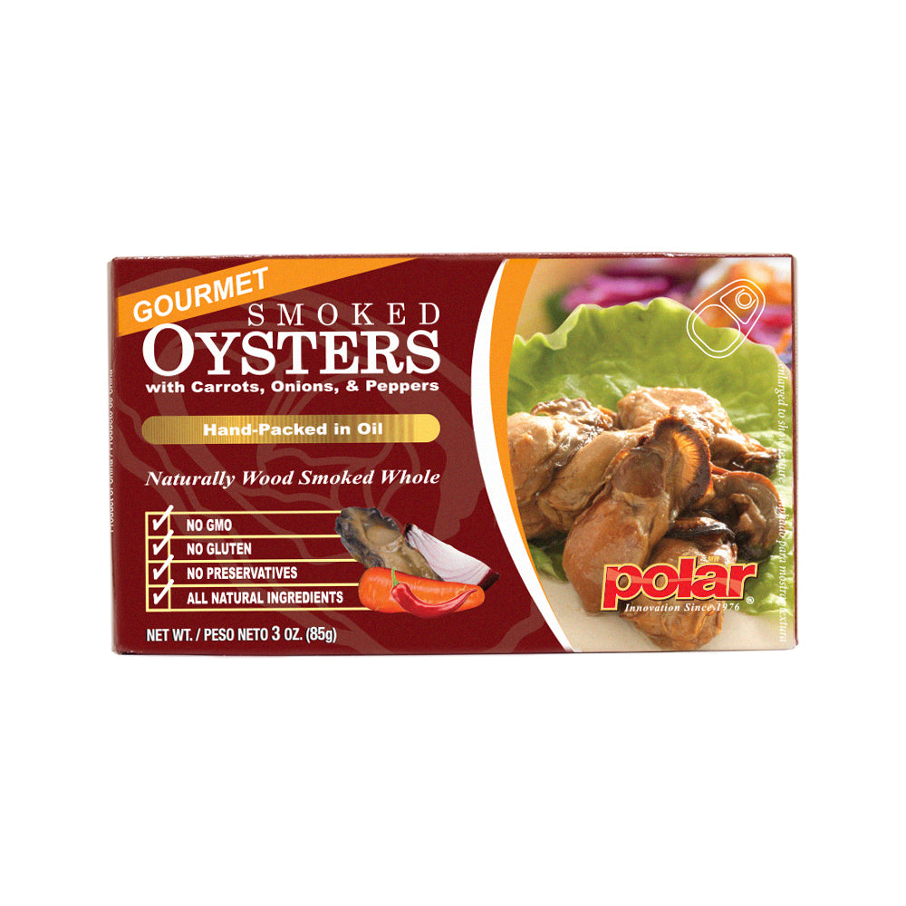 Gourmet Smoked Oysters with Vegetables 3.53 oz (Pack of 12 or 18)