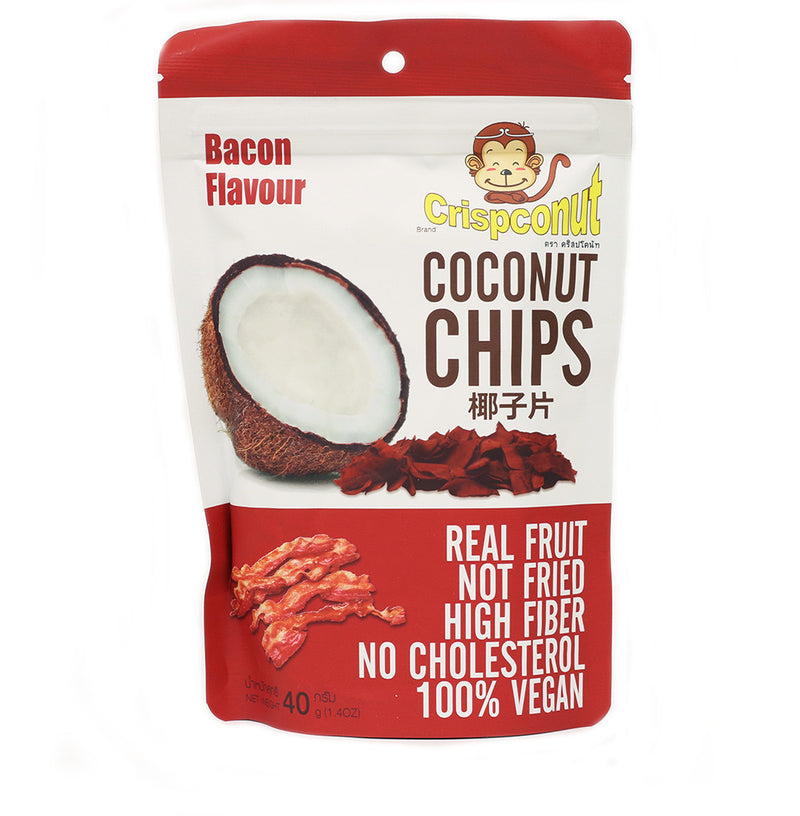Bacon Flavored Coconut Chips 1.4 oz (Pack of 8)