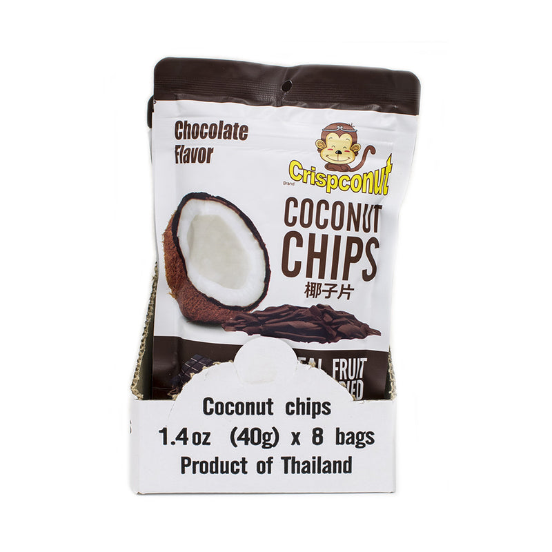 Chocoloate Flavored Coconut Chips 1.4 oz (Pack of 8) - MWPolar