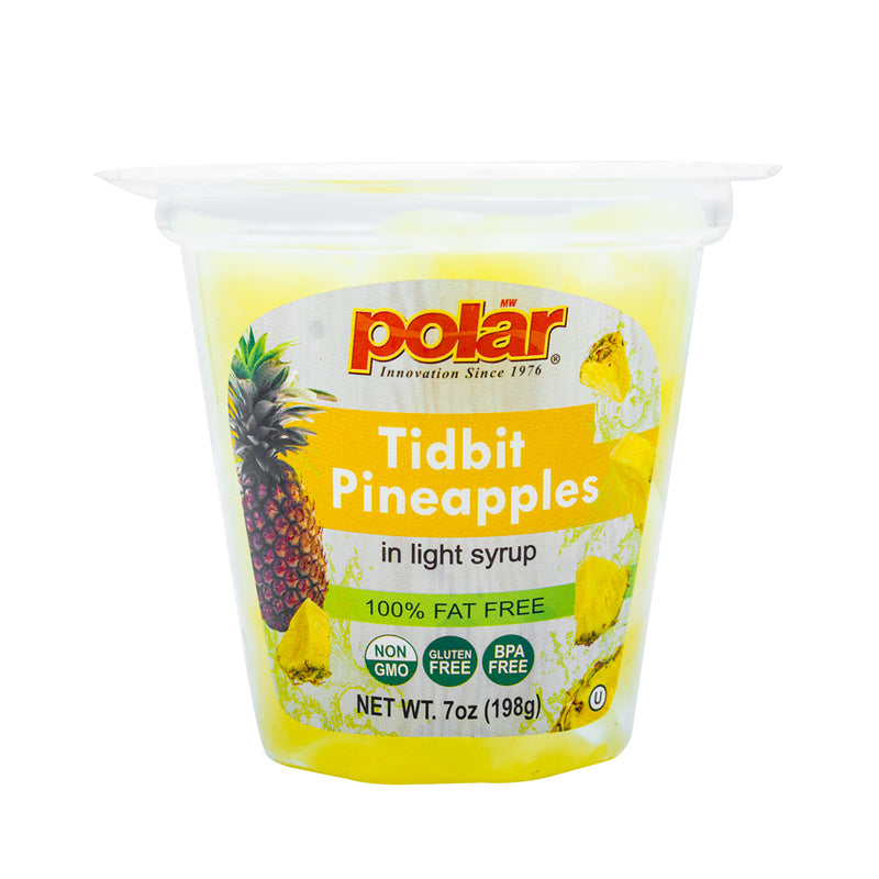 Pineapple Tidbits Fruit Cup in Light Syrup 7 oz (Pack of 12)