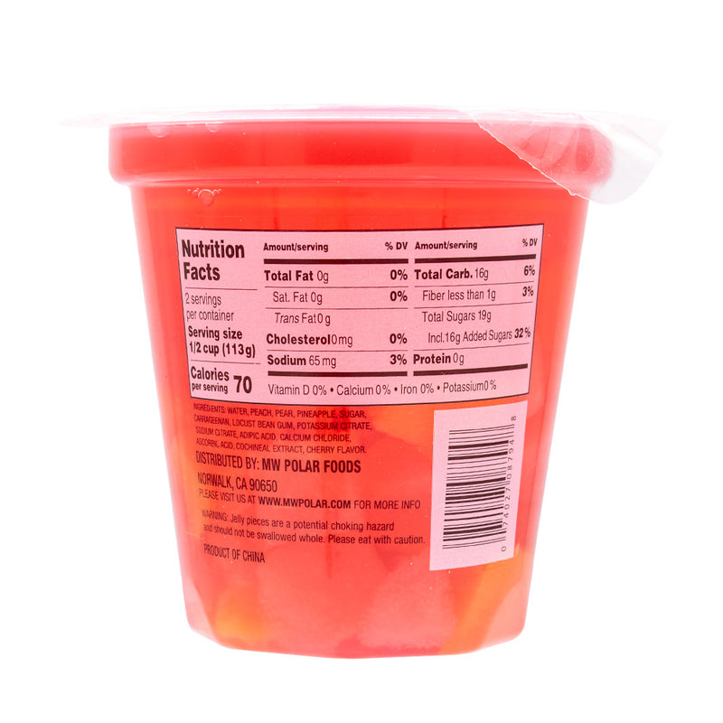 Diced Mixed Fruit in Cherry Gel 7 oz (Pack of 12) - MWPolar