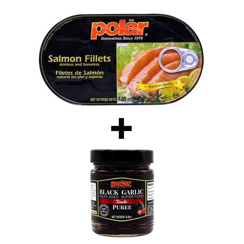 Salmon Fillets (Pack of 12) + Black garlic Puree (Pack of 2) Holiday Bundle - MWPolar