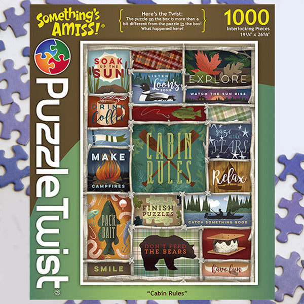 cabin rules jigsaw puzzle  puzzletwist