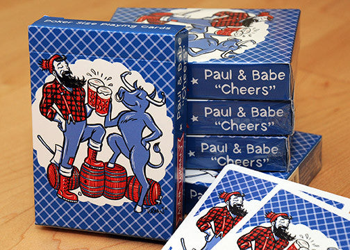 "Paul & Babe ""Cheers"" - Poker Size Playing Cards"