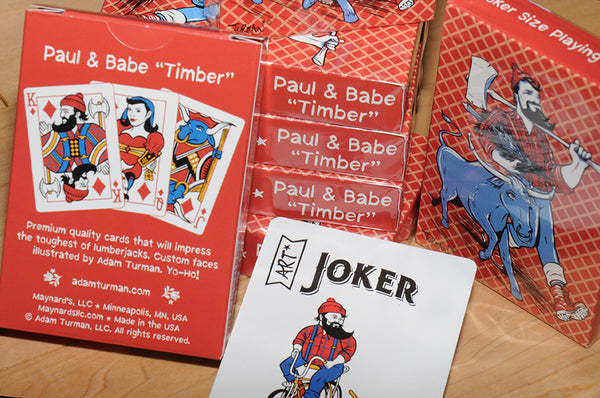 "Paul & Babe ""Timber"" - Poker Size Playing Cards"